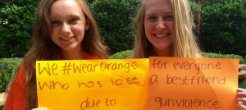 NFTY Teens Wear Orange To Raise Awareness of Gun Violence Prevention