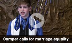 Camper calls for marriage equality