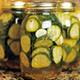jar of cucumber pickles